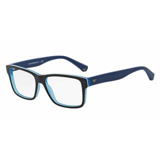 Emporio Armani Mens EA3059F 5392 Black Plastic Square Eyeglasses