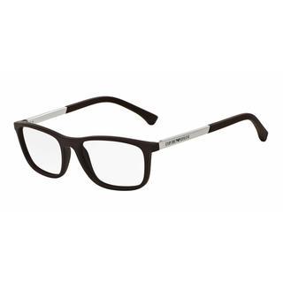 Emporio Armani Mens EA3069 5064 Brown Plastic Rectangle Eyeglasses