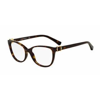 Emporio Armani Womens EA3077 5026 Havana Plastic Cat Eye Eyeglasses