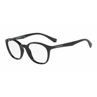 Emporio Armani Womens EA3079 5017 Black Plastic Phantos Eyeglasses