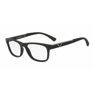 Emporio Armani Mens EA3082 5063 Black Plastic Square Eyeglasses