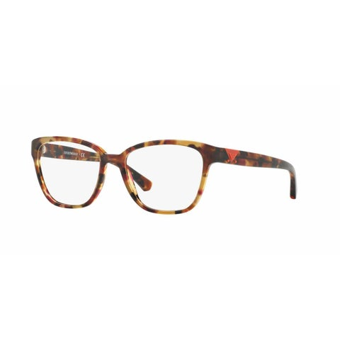Emporio Armani Womens EA3094F 5541 Pink Plastic Square Eyeglasses - Tortoise