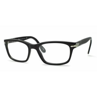 Persol Mens PO3012V 95 Black Plastic Square Eyeglasses