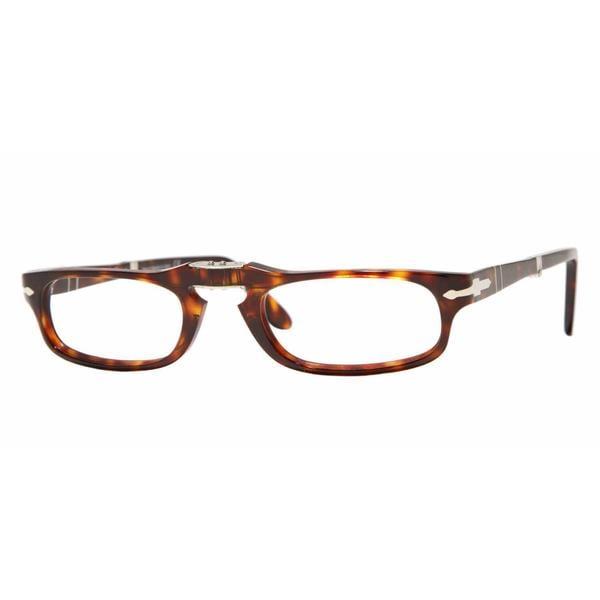 f44eb281b76de Shop Persol Mens PO2886V 24 Havana Plastic Rectangle Eyeglasses - Tortoise  - Free Shipping Today - Overstock.com - 13613996