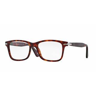 Persol Mens PO3014VM 24 Havana Plastic Square Eyeglasses