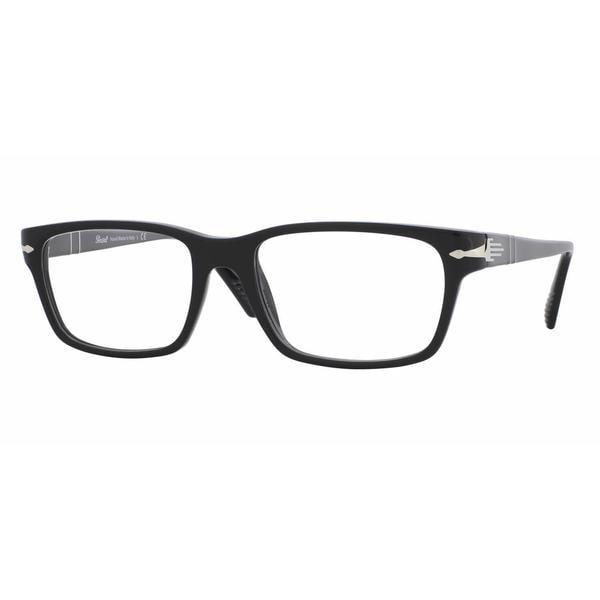 Mens Eyeglass Frames Square : Persol Mens PO3096V 95 Black Plastic Square Eyeglasses ...