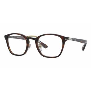 Persol Mens PO3109V 24 Havana Plastic Rectangle Eyeglasses