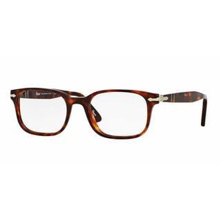 Persol Mens PO3118V 24 Havana Plastic Square Eyeglasses