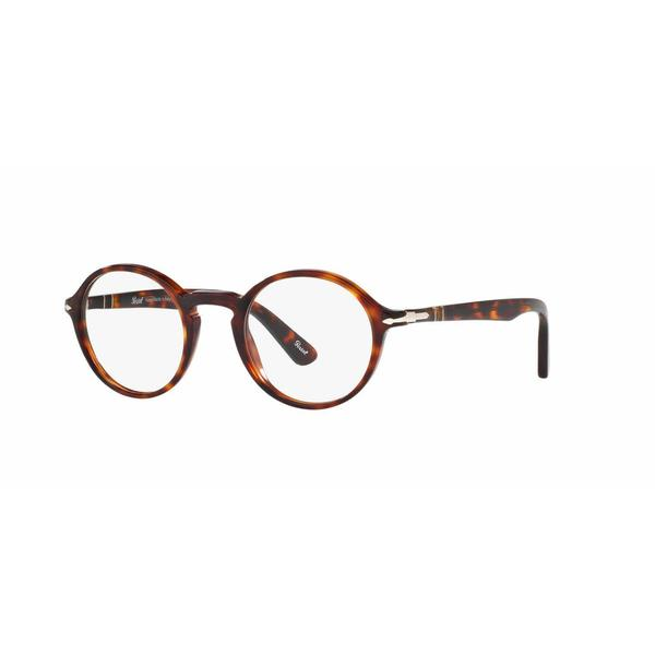 c9c4f22cc1fa6 Shop Persol Mens PO3141V 24 Havana Plastic Round Eyeglasses - Tortoise -  Free Shipping Today - Overstock - 13614127