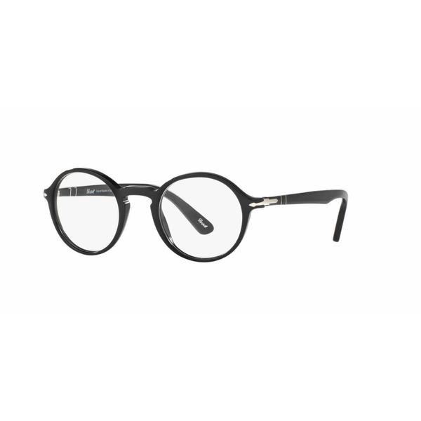 d8fc3f0da72 Shop Persol Mens PO3141V 95 Black Plastic Round Eyeglasses - Free ...