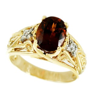One-of-a-kind Michael Valitutti 14k Grape Garnet and Diamond ring