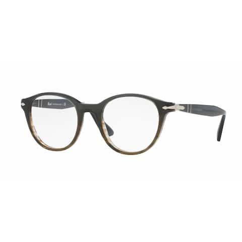 Persol Mens PO3153V 1012 Grey Plastic Phantos Eyeglasses
