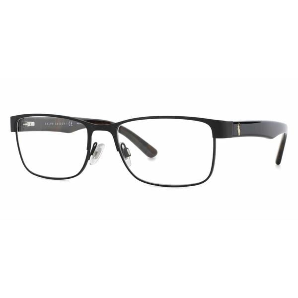 becc55b7ea Shop Polo Mens PH1157 9038 Black Metal Rectangle Eyeglasses - Free ...