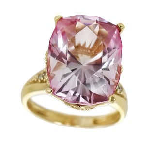 One-of-a-kind Michael Valitutti 14k Cushion Cut Kunzite and Diamond ring