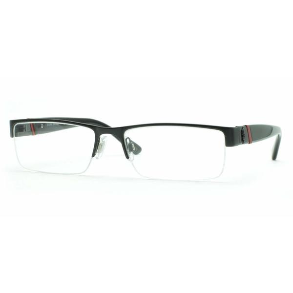 a8da3e13052e Shop Polo Mens PH1117 9038 Black Metal Rectangle Eyeglasses - MATTE ...