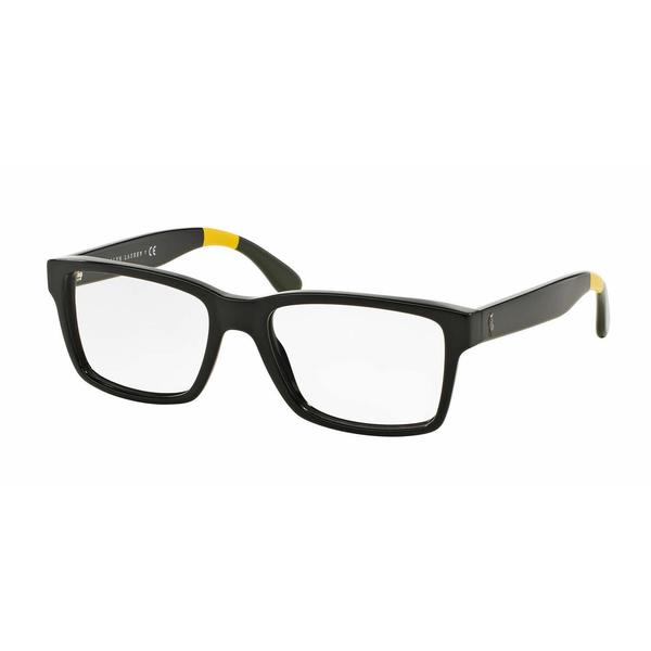 e3b5a545d23d Shop Polo Mens PH2146 5567 Black Plastic Rectangle Eyeglasses - Free ...