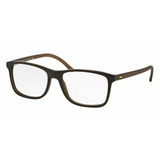 Polo Mens PH2151 5409 Green Plastic Rectangle Eyeglasses