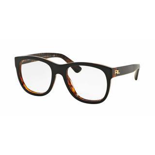 Ralph Lauren Womens RL6143 5260 Black Plastic Square Eyeglasses