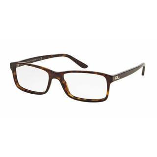 Ralph Lauren Mens RL6144 5003 Havana Plastic Rectangle Eyeglasses