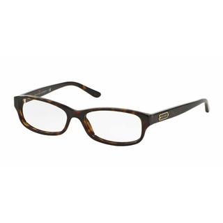 Ralph Lauren Womens RL6130 5003 Havana Plastic Rectangle Eyeglasses