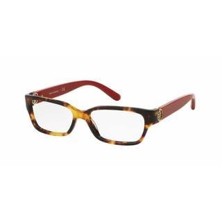 Tory Burch Womens TY2025 3152 Havana Plastic Square Eyeglasses
