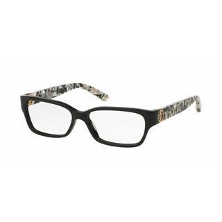 Tory Burch Womens TY2025 3155 Black Plastic Square Eyeglasses