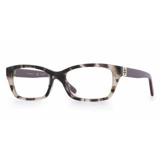 Tory Burch Womens TY2049 1363 Havana Plastic Rectangle Eyeglasses