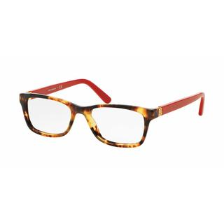 Tory Burch Womens TY2061 3152 Havana Plastic Rectangle Eyeglasses