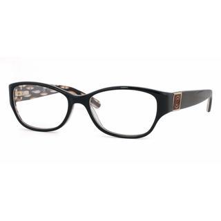 Tory Burch Womens TY2022 910 Black Plastic Rectangle Eyeglasses