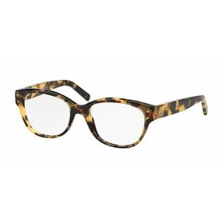 Tory Burch Womens TY2040 1287 Havana Plastic Square Eyeglasses