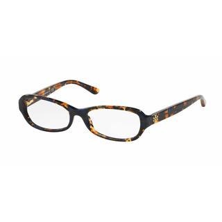 Tory Burch Womens TY2051 1414 Havana Plastic Oval Eyeglasses