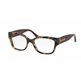 Tory Burch Womens TY2056 1476 Havana Plastic Square Eyeglasses