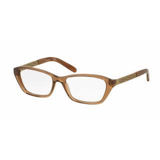 Tory Burch Womens TY2058 1517 Light Brown Plastic Cat Eye Eyeglasses