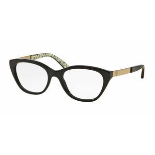 Tory Burch Womens TY2059 1265 Black Plastic Cat Eye Eyeglasses
