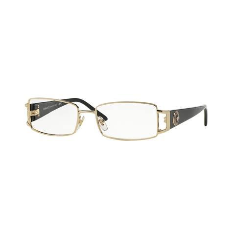 Versace Womens VE1163M 1252 Gold Metal Rectangle Eyeglasses