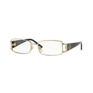 Versace Womens VE1163M 1252 Gold Metal Rectangle Eyeglasses