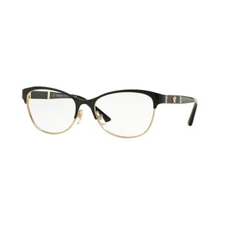 Versace Womens VE1233Q 1366 Black Metal Irregular Eyeglasses