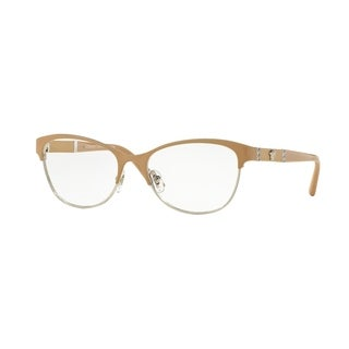 Versace Womens VE1233Q 1367 Light Brown Metal Irregular Eyeglasses