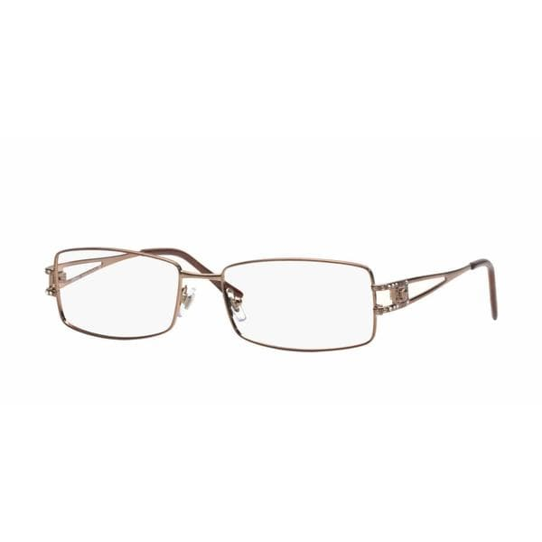 601c2f22b626 Shop Versace Womens VE1092B 1045 Brown Metal Rectangle Eyeglasses - Free  Shipping Today - Overstock.com - 13614545