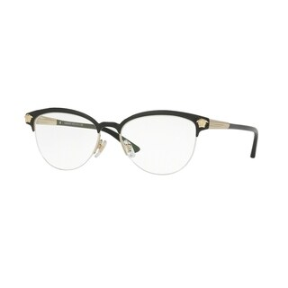 Versace Womens VE1235 1371 Black Metal Phantos Eyeglasses