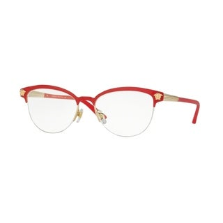 Versace Womens VE1235 1376 Red Metal Phantos Eyeglasses