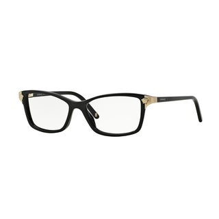 Versace Womens VE3156 GB1 Black Plastic Square Eyeglasses