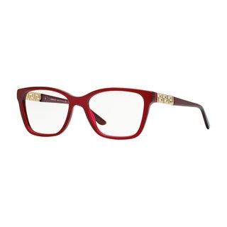 Versace Womens VE3192B 388 Red Plastic Rectangle Eyeglasses