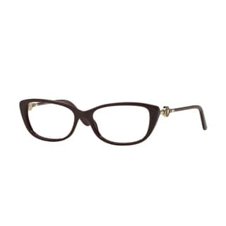 Versace Womens VE3206 5105 Bordeaux Plastic Cat Eye Eyeglasses