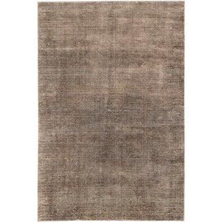 ecarpetgallery Hand-Knotted Shimmer Brown Wool & Art Silk Rug (9'1 x 12'1)