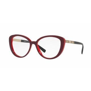 Versace Womens VE3229 5188 Red Plastic Cat Eye Eyeglasses