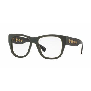 Versace Mens VE3230 5193 Black Plastic Square Eyeglasses