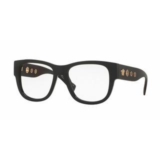 Versace Mens VE3230 GB1 Black Plastic Square Eyeglasses