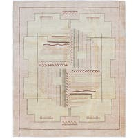 ecarpetgallery Hand-Knotted  Peshawar Ziegler Ivory  Wool Rug (8'4 x 10'2)