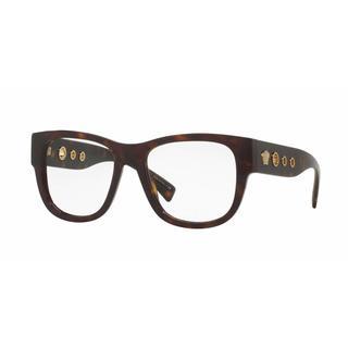 Versace Mens VE3230A 108 Brown Plastic Square Eyeglasses